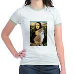 Mona / Akita (br&w) Jr. Ringer T-Shirt