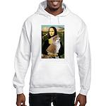 Mona / Akita (br&w) Hooded Sweatshirt