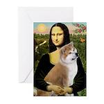 Mona / Akita (br&w) Greeting Cards (Pk of 10)