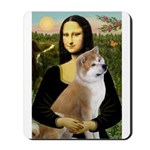 Mona / Akita (br&w) Mousepad