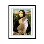 Mona / Akita (br&w) Framed Panel Print