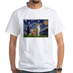 Starry - Akita3 White T-Shirt