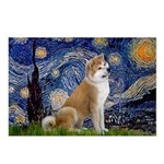Starry - Akita3 Postcards (Package of 8)