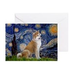 Starry - Akita3 Greeting Cards (Pk of 10)