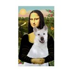 MonaLisa-AKita2 Sticker (Rectangle)