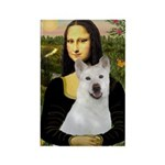 MonaLisa-AKita2 Rectangle Magnet