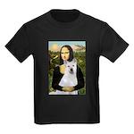 MonaLisa-AKita2 Kids Dark T-Shirt