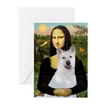 MonaLisa-AKita2 Greeting Cards (Pk of 10)
