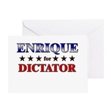 ENRIQUE for dictator Greeting Card
