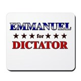 EMMANUEL for dictator Mousepad