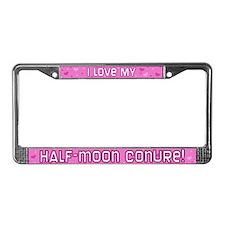 Pnk Polka Dot Half Moon Conure License Plate Frame