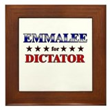 EMMALEE for dictator Framed Tile