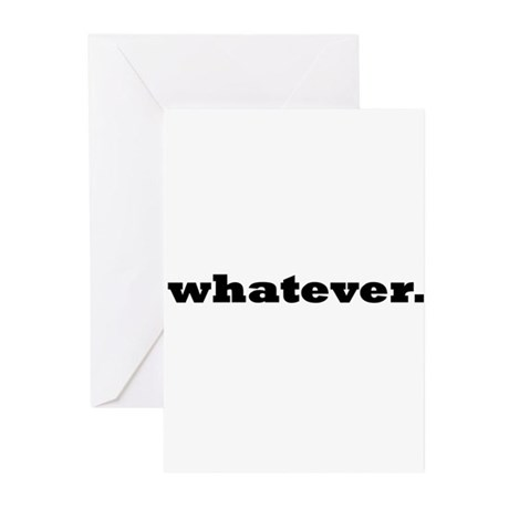 Whatever. Greeting Cards (Pk of 20)