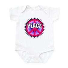 Pink Peace Sign Infant Bodysuit