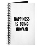 Happiness is being Giovani Journal