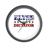 ELYSE for dictator Wall Clock