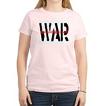 WAR Women's Pink T-Shirt