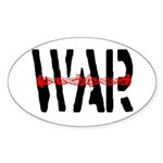 WAR Oval Sticker