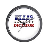 ELLIS for dictator Wall Clock