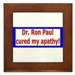 Ron Paul cure-4 Framed Tile