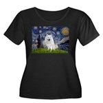 Starry-Am. Eskimo Dog Women's Plus Size Scoop Neck