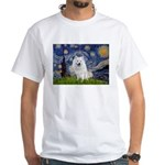 Starry-Am. Eskimo Dog White T-Shirt