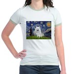 Starry-Am. Eskimo Dog Jr. Ringer T-Shirt