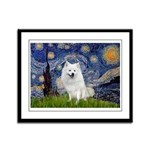 Starry-Am. Eskimo Dog Framed Panel Print
