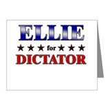 ELLIE for dictator Note Cards (Pk of 10)