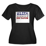 ELIZA for dictator Women's Plus Size Scoop Neck Da