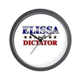 ELISSA for dictator Wall Clock