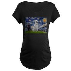 Starry-AnatolianShep1 Maternity Dark T-Shirt