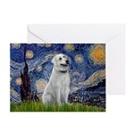 Starry-AnatolianShep1 Greeting Card