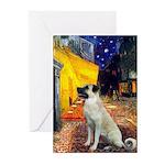 Cafe-AnatolianShep2 Greeting Cards (Pk of 10)