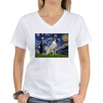 Starry-AnatolianShep 2 Women's V-Neck T-Shirt