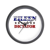 EILEEN for dictator Wall Clock