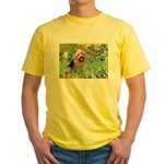 Irises - Aussie Terrier Yellow T-Shirt