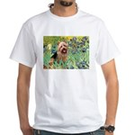 Irises - Aussie Terrier White T-Shirt