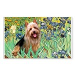 Irises - Aussie Terrier Sticker (Rectangle)