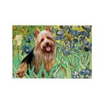 Irises - Aussie Terrier Rectangle Magnet