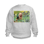 Irises - Aussie Terrier Kids Sweatshirt