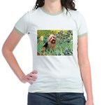 Irises - Aussie Terrier Jr. Ringer T-Shirt