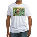 Irises - Aussie Terrier Fitted T-Shirt