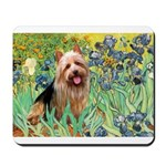 Irises - Aussie Terrier Mousepad