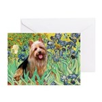 Irises - Aussie Terrier Greeting Cards (Pk of 20)