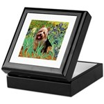 Irises - Aussie Terrier Keepsake Box