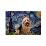 Starry-AussieTerrier Rectangle Magnet