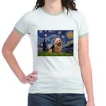 Starry-AussieTerrier Jr. Ringer T-Shirt