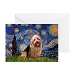 Starry-AussieTerrier Greeting Cards (Pk of 20)