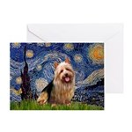 Starry-AussieTerrier Greeting Card